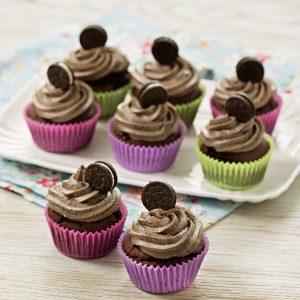 Cupcakes de galletitas oreo