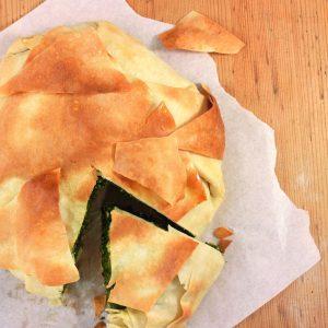 tarta griega de espinaca