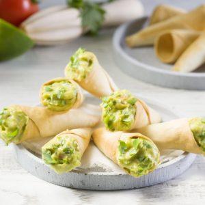 Cucuruchos de guacamole