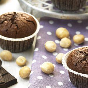 Muffins de banana y nueces sin gluten