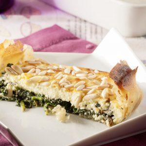 tarta de espinaca y queso