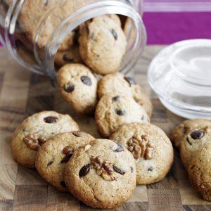 Cookies con chips y nueces