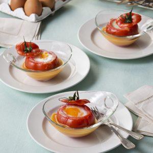 Huevos Poche en Tomate