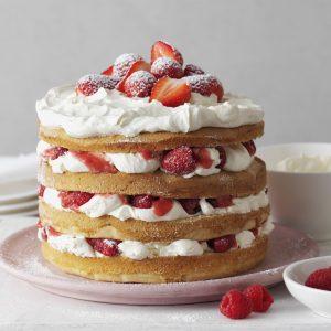 Layer Cake de frutillas y crema