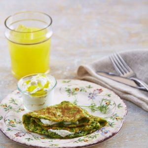 Omelette light de claras con verduras