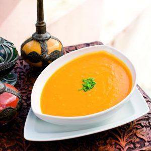 Sopa de naranja, zanahoria y jengibre