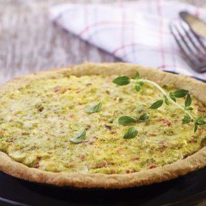Tarta de brócoli y harina de quinoa