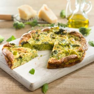Frittata de brocoli y hierbas aromaticas