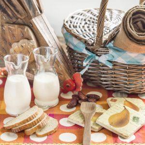 Yogur líquido naranja, miel y avena