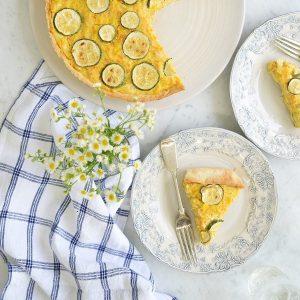 tarta de pollo y zucchini