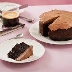 torta vegana de chocolate y cafe