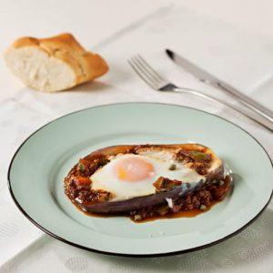 Berenjenas rellenas con huevo