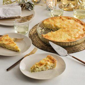 tarta de puerro y queso gallego