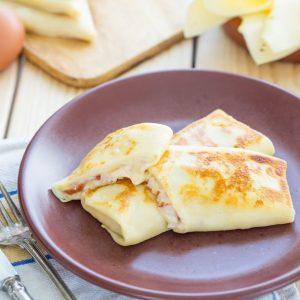 crepes de avena con jamon y queso
