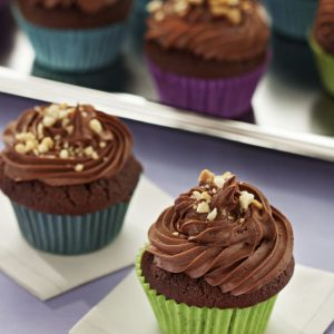 cupcakes de chocolate y mani