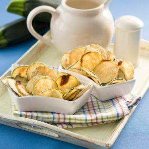 Chips de zuccini al parmesano